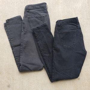 Forever21 Black Skinny Jeans Bundle.